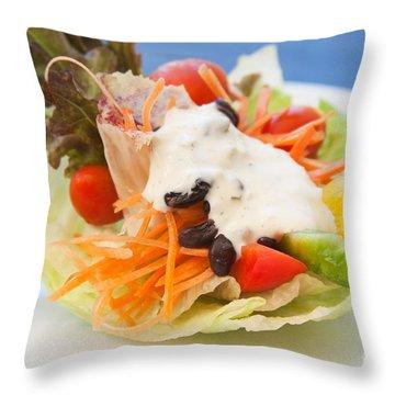 Cute Salad Throw Pillow by Atiketta Sangasaeng