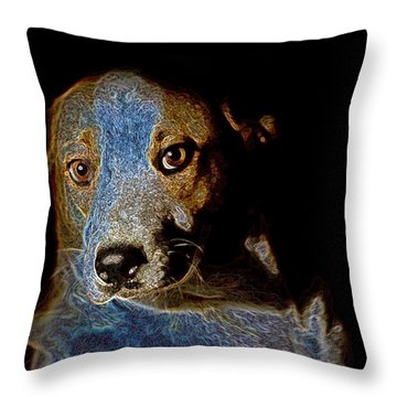 Cutie Throw Pillow by One Rude Dawg Orcutt