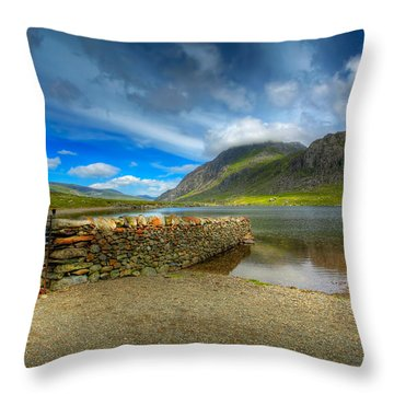 Cwm Idwal Throw Pillow by Adrian Evans