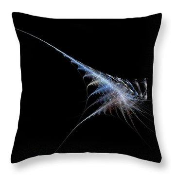 Throw Pillow featuring the digital art Cyber Shrimp by Raffaella Lunelli
