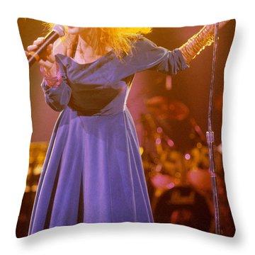 Cyndi Lauper Throw Pillow by David Plastik