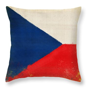 Czech Republic Flag Throw Pillow by Setsiri Silapasuwanchai