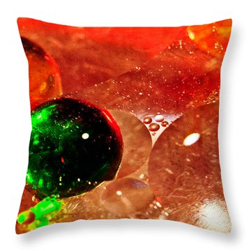 D I S E A S E Throw Pillow by Charles Dobbs