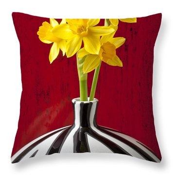 Daffodils Throw Pillow by Garry Gay
