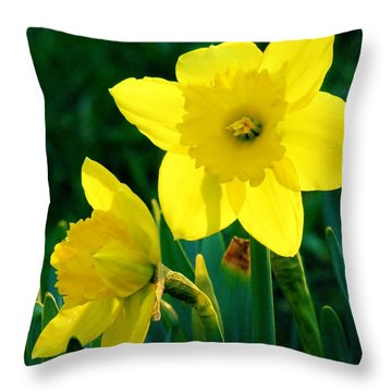 Throw Pillow featuring the photograph Daffodils by Sherman Perry