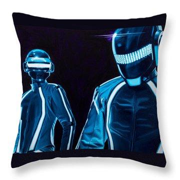 Daft Punk Throw Pillow by Ellen Patton
