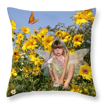 Daisy Faery Throw Pillow