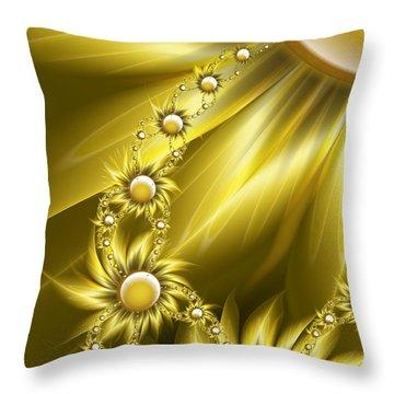 Daisy Sunshine Throw Pillow