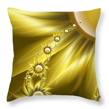 Daisy Sunshine Throw Pillow