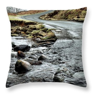 Dalby Forest Ford Throw Pillow