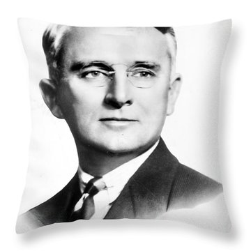 Dale Carnegie (1888-1955) Throw Pillow by Granger