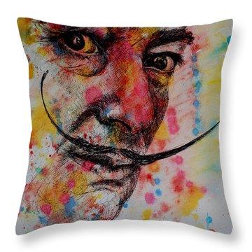 Dali Throw Pillow by Lynn Hughes