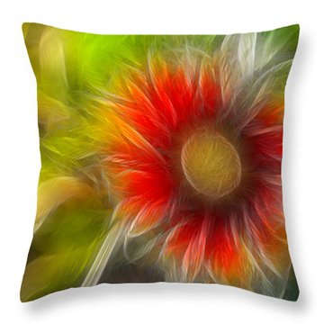 Dalia Pseudo Fractal Throw Pillow by Lynne Jenkins