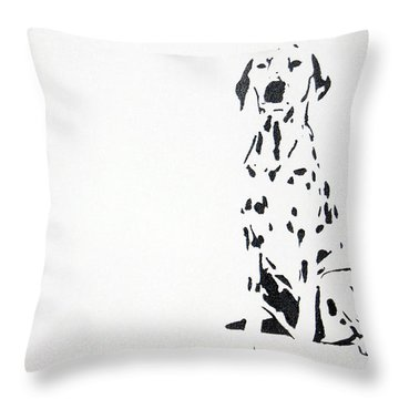 Dalmatian Throw Pillow by Michael Ringwalt