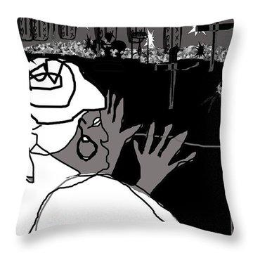 Damballah Throw Pillow