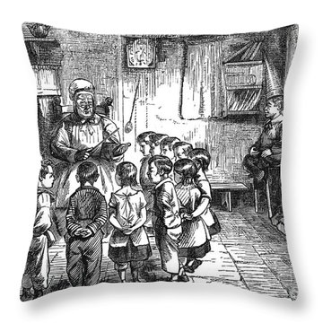 Dames School Throw Pillow by Granger