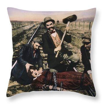 Damsel In Distress, 1913 Throw Pillow by Granger