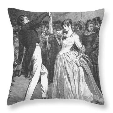 Dance, 19th Century Throw Pillow by Granger
