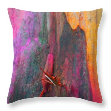 Throw Pillow featuring the digital art Dance For The Earth by Richard Laeton