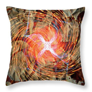 Dance Of Fires  Throw Pillow by Jerry Cordeiro