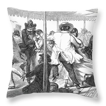 Dance: Polka, 1858 Throw Pillow by Granger