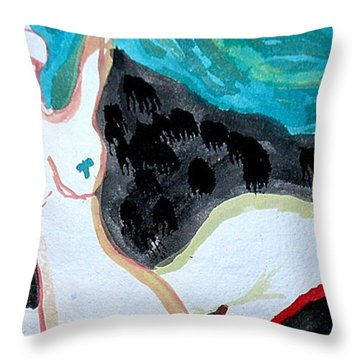 Throw Pillow featuring the painting Dancing by Amy Sorrell