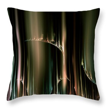 Dancing Auroras Curtains In The Sky Throw Pillow