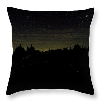 Dancing Fireflies Throw Pillow by Brent L Ander