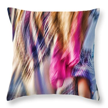 Dancing Hippie Throw Pillow