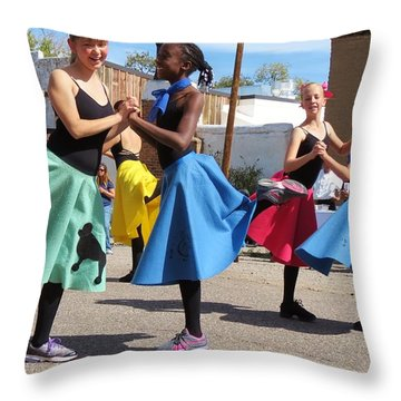 Dancing In The Streets Throw Pillow by Feva  Fotos