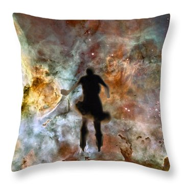 Dancing Nebula Throw Pillow