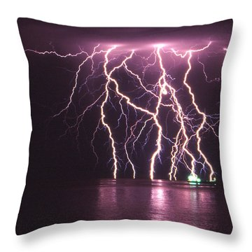 Dancing On Water Throw Pillow