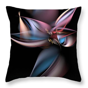 Dancing Pastels Throw Pillow