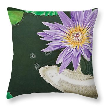 Dancing With Lilly Throw Pillow
