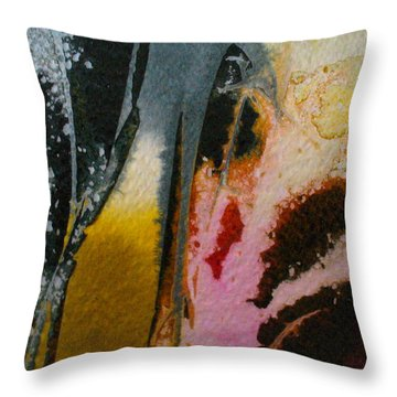 Throw Pillow featuring the painting Dancing With The West Wind by Mary Sullivan