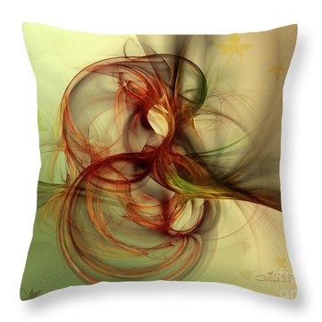 Dancing Wood Spirit Throw Pillow by Jutta Maria Pusl