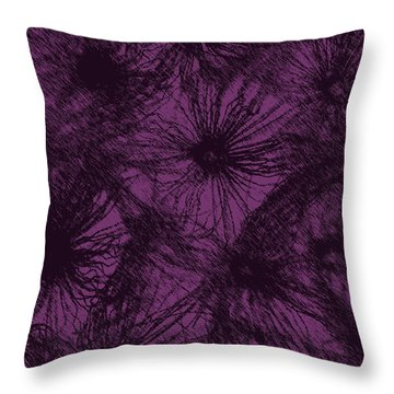 Dandelion Abstract Throw Pillow by Ernie Echols