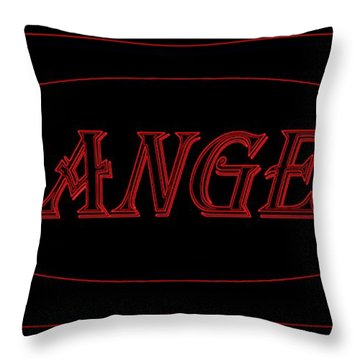 Danger Throw Pillow by Dale   Ford