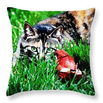 Throw Pillow featuring the photograph Dangerous Friends by Laura Brightwood