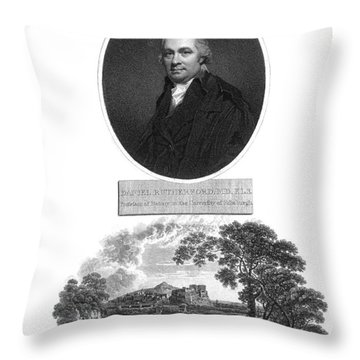 Daniel Rutherford, Scottish Chemist Throw Pillow by Science Source