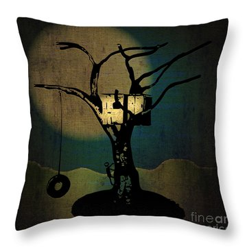 Dans Tree House Throw Pillow