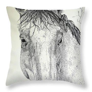 Dapplegray Throw Pillow by Suzette Kallen