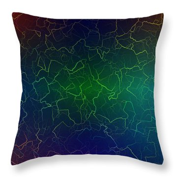 Throw Pillow featuring the digital art Dararin by Jeff Iverson