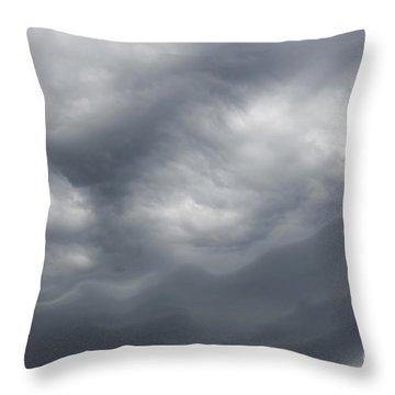 Dard Sky Before Storm Throw Pillow by Michal Boubin