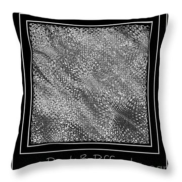 Dare To Be Different - Black And White Abstract Throw Pillow by Carol Groenen