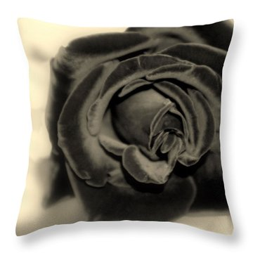 Throw Pillow featuring the photograph Dark Beauty by Kay Novy