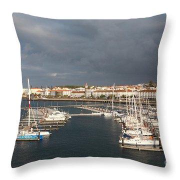 Dark Clouds Throw Pillow by Gaspar Avila