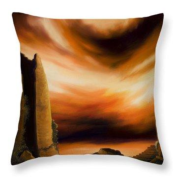 Dark Columns Throw Pillow by James Christopher Hill
