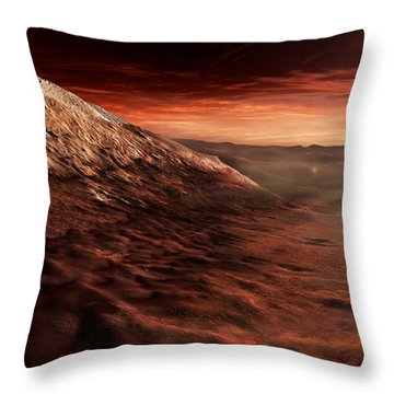 Dark Dunes March Along The Floor Throw Pillow by Steven Hobbs