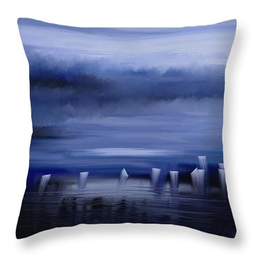 Dark Mist Throw Pillow by Eleonora Perlic